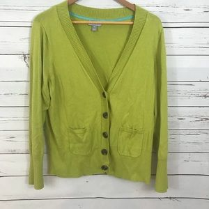 JC Penny Plus Size Lime Green Cardigan Size 1X